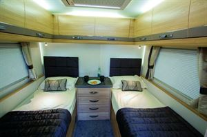 Twin beds at the rear, a cosy, secluded bedroom