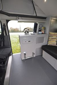Twin side doors help to connect with the outside