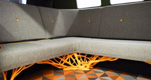 Weight saving design extend to the interior of the The electric motor in the VW Type 20 Concept