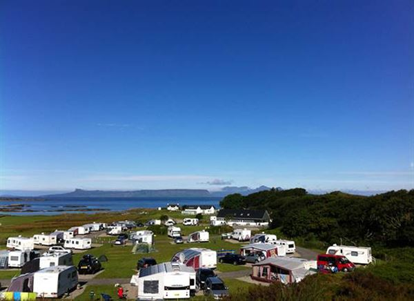 The pitches at Sunnyside Croft have views out to the coast and the surrounding countryside
