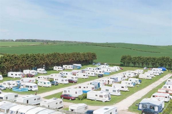 The Grange Holidays campsite area