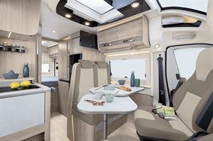 Inside the Rapido V55 campervan