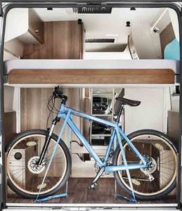Room for storing a bike if you choose a manually height-adjustable bed