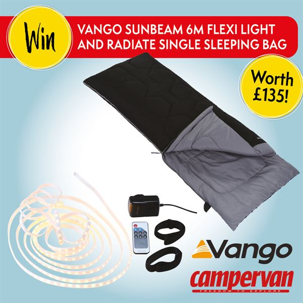Win a Vango flexi light and sleeping bag for your campervan