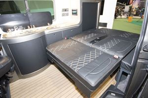 With the bed made in the VisionTech 20/20 Vision campervan