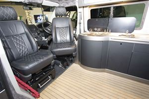 Cab seats in the VisionTech 20/20 Vision campervan