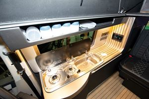 A look at the hob in the VisionTech 20/20 Vision campervan