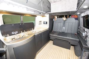A view of the interior of the VisionTech 20/20 Vision campervan