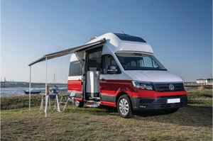 The Volkswagen California can be ordered with a roof bed - image courtesy of Volkswagen