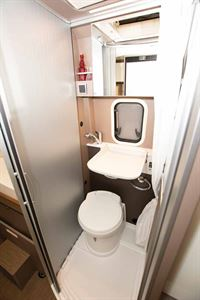 The WC and washroom in the new Burstner City Car Harmony Line C 603 campervan