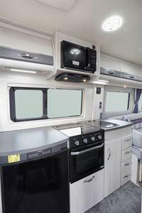 The kitchen in the Auto-Sleeper Warwick Duo motorhome