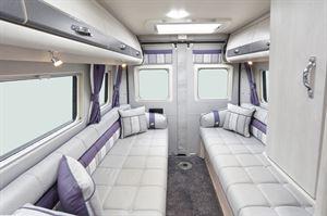 The lounge in the the Auto-Sleeper Warwick Duo motorhome