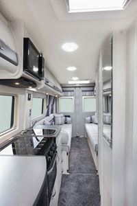 An interior view of the Auto-Sleeper Warwick Duo motorhome