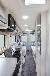 An interior view of the Auto-Sleeper Warwick Duo motorhome