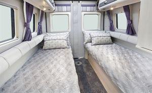 Single beds in the Auto-Sleeper Warwick Duo motorhome
