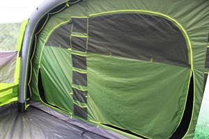 With door closed in the Coleman Weathermaster 8XL Air Tent