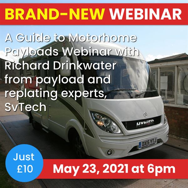 Our fourth and final motorhome and campervan webinar will be held on Sunday, May 23 at 6pm
