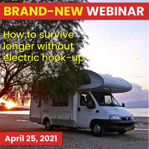 Join our next motorhome webinar and learn to survive off-grid