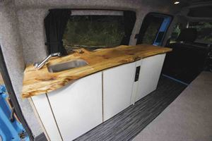 The willow worktop is one of this conversions best features