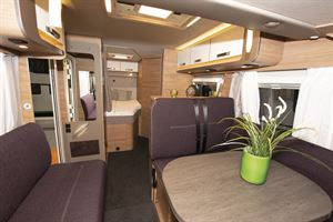 The interior of the Weinsberg CaraCore 650 MF