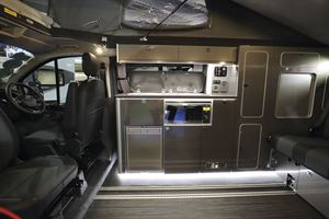 View of the kitchen in the Wellhouse Lowdhams Summit campervan