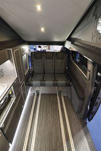 Rear seats in the Wellhouse Lowdhams Summit campervan