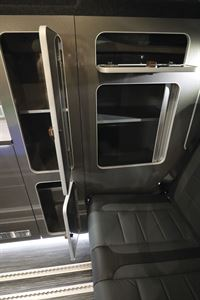 Close up of a seat in the Wellhouse Lowdhams Summit campervan