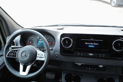 Westfalia James Cook has an integrated cab dash that can show habitation tanks