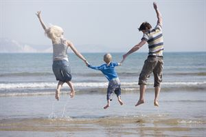 Jump for joy when you book a bargain September break. Image: Weymouth ©VisitBritain/Rod Edwards