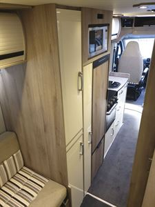 A peek at the interior of the WildAx Aurora campervan