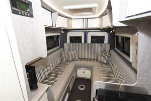 The u-shaped lounge in the WildAx Europa