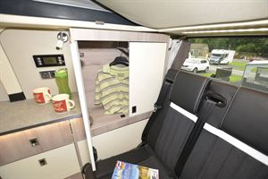 Good storage options in the WildAx Proteus campervan