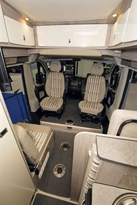 The cab seats in the WildAx Pulsar campervan