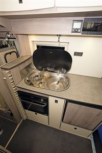 The hob in the Pulsar's kitchen