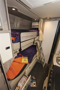 Bunk beds in the Wildax Solaris XL campervan