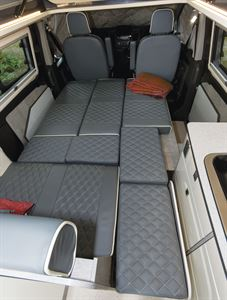 With seats folded down into beds