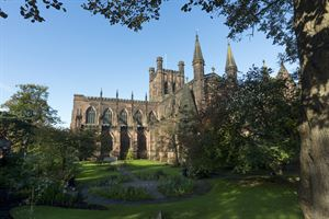 Chester Cathedral, a short train ride from the campsite at Delamere Forest