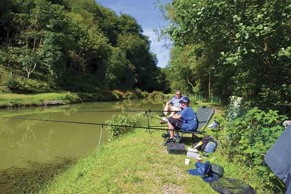 Wooda Farm Holiday Park in Cornwall has a coarse fishing lake stocked with tench, mirror and carp © Warners Group Publications, 2019