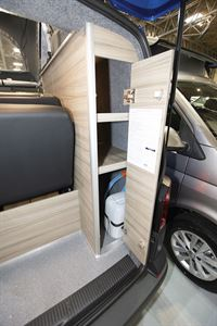 More storage in the Rolling Homes Expedition campervan