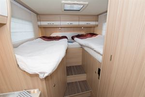 Single beds at the rear