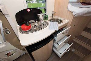 The galley is compact but functional
