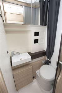 The washroom in the Dreamer Camper Five campervan