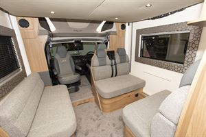 The interior of the Bailey Autograph 81-6 motorhome