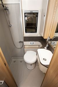 The washroom in the Bailey Autograph 81-6 motorhome