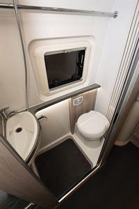 The washroom in the WildAx Elara campervan