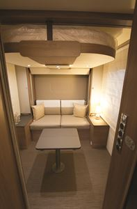 Rear lounge with drop-down double above