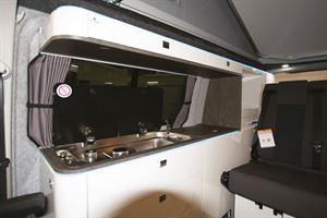 Lunar Campers galley kitchen