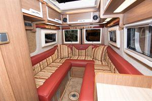 U-shaped rear lounge