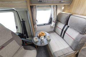 The lounge area in the Elddis Marquis Majestic 135 motorhome