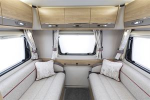 The rear lounge in the Elddis Marquis Majestic 135 motorhome